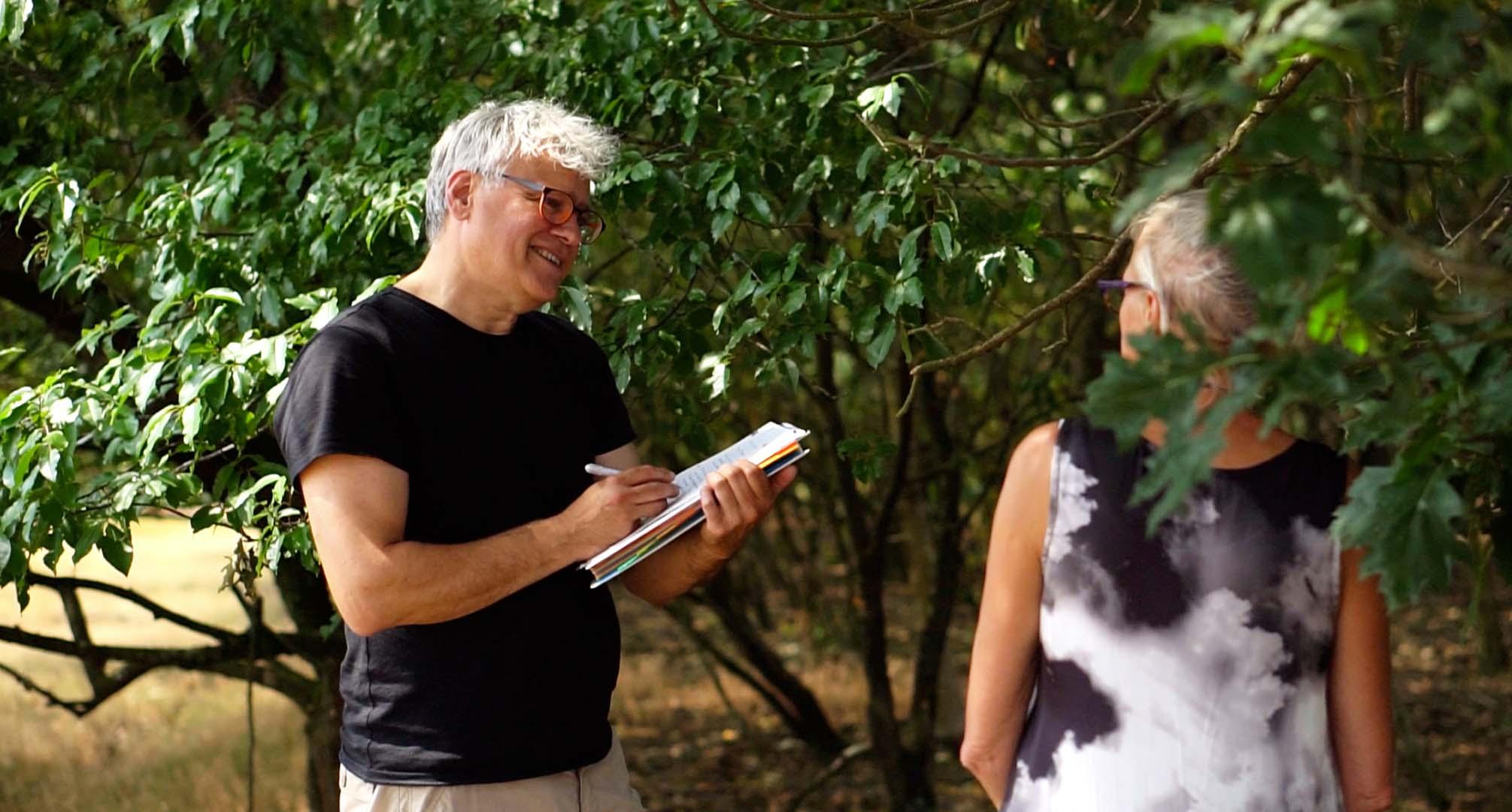 NLP Practitioner cursisten Menzo Ockels en Geesje van Dam op de hei
