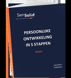 De cover van SenSolid's ebook: Persoonlijke Ontwikkeling In 5 Stappen.