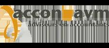 Het logo van Accon AVM, klant voor verschillende coachingstrajecten bij SenSolid
