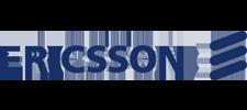 Het logo van Ericsson, klant voor verschillende coachingstrajecten bij SenSolid