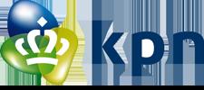Het logo van KPN, klant voor verschillende coachingstrajecten bij SenSolid.