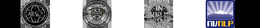 Logo's van de instanties waar de NLP opleidingen van SenSolid geaccrediteerd zijn.