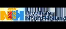 Het logo van Provincie Noord-Holland, klant voor verschillende coachingstrajecten bij SenSolid