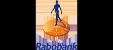 Het logo van Rabobank, klant voor verschillende coachingstrajecten bij SenSolid.