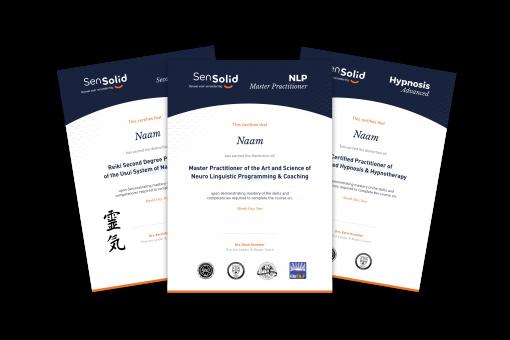 Met de NLP Master Practitioner & Master Coach behaal je 3 certificaten: De NLP Master Practitioner, Advanced Hypnosis en Reiki 2.